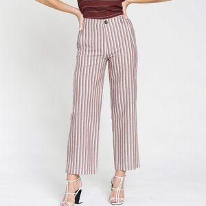 dRA Adela striped pants Cotton Anthropologie new